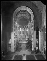 Interior of unidentified church or cathedral, undated (ca. 1913-1914). Broken neg.
