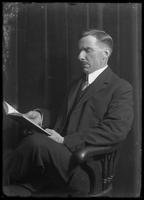 Portrait of an unidentified man with a moustache, seated, New York City, undated (ca. 1913-1914).