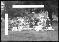 'Mother Goose' party group portrait, Roman Catholic Orphan Asylum, Kingsbridge, Bronx, undated (ca. 1912)