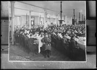 Copy photo of the children at Thanksgiving dinner, Roman Catholic Orphan Asylum, Kingsbridge, Bronx, Thanksgiving, 1910.