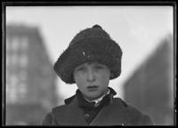 Close-up of William Gray Hassler in coat and knitted hat, New York City, undated (ca. November-December  1915).