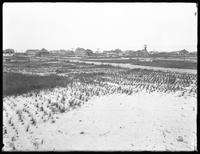 First half of a panorama view from Jamaica Bay to the ocean, Belle Harbor, Queens, July 11, 1915. Photographed for Joseph P. Day.