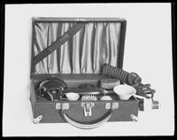 Product shot of an electric hairdryer [?] set, undated [ca. September 1915].