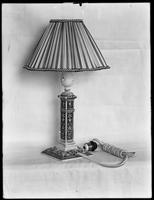 Product shot of an electric lamp, undated [ca. September 1915].