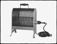 Product shot of an electric space heater, undated [ca. September 1915]. Background matted out.