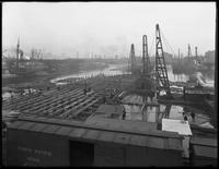 Pier 36, Atlantic Basin, Brooklyn, April 6, 1916. Photographed for the Robbins Ripley Company. Shot from a nearby roof.