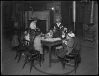 Children at the Morning Star Mission, 13 Doyers Street, New York City, April 7, 1916. Photographed for the Bible Teachers' Training School.