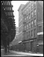 379 Pearl Street, New York City, May 27, 1916. Photographed for Joseph P. Day. El tracks to the left.