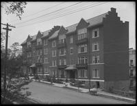 Apartments on Sedgewick Avenue south of Fordham Road, Bronx, May 30, 1916. Photographed for Joseph P. Day.