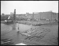 Pier 18, Atlantic Basin, Brooklyn, June 22, 1916. Photographed for the Robbins-Ripley Company. View from the ferry.