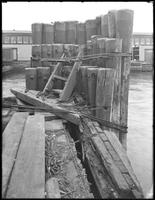 Detail of pilings on an unidentified pier, undated (ca. October 1916).