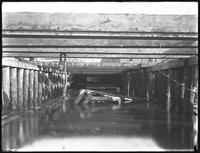 Pier 17, Joralemon Street, Brooklyn, November 9, 1916. Underside of the structure viewed from the water. Photographed for the Robbins-Ripley Company.