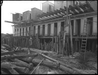 Unidentified construction site on Manhattan Beach, Brooklyn, December 1, 1916. Photographed for Joseph P. Day.