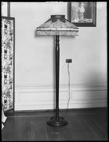 Floor lamp with fringed shade, December 11, 1916. Photographed for the United Electric Light & Power Company.