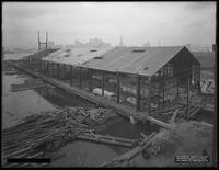 Pier 17, Joralemon Street, Brooklyn, January 13, 1917. Photographed for the Robbins-Ripley Company. Side view.