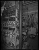 Meat in cold storage at Schaefer, Madison Avenue and E. 61st Street, New York City, January 31, 1917. Photographed for the United Electric Light & Power Company.