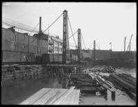 Bulkhead construction on Pier 15, Brooklyn, looking south, October 7, 1919.
