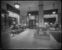 Interior showroom of the United Electric Light & Power shop at W. 89th Street, New York City, undated [July 1916]. Photographed for the United Electric Light & Power Company.
