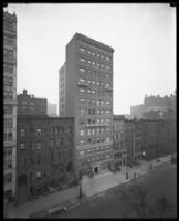 124-126 W. 72nd Street, New York City, February 15, 1917. Probably photographed for the United Electric Light & Power Company. Thirteen-story apartment house owned (?) by G.B. Beaumont Company.