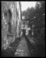 Unidentified building exterior (church rectory?), undated (ca. 1911-1922).