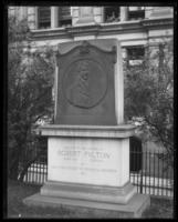 The Robert Fulton monument in Trinity Church cemetery, undated (ca. 1911-1922).