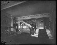 Interior of an unidentified stately home, undated (ca. 1911-1922).