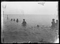 William Gray Hassler and his mother Ethel Magaw Hassler at Brighton Beach, New York City, undated (ca. 1912-1916).