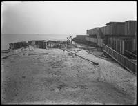 Unidentified construction site (Manhattan Beach?) beside the ocean, undated (ca. March 1917).