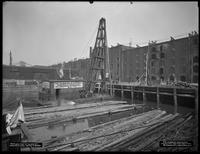Pier 9 1/2, at the foot of Clark Street, Brooklyn, April 18, 1917. Construction just beginning. Photographed for the Robbins-Ripley Company.
