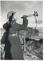 Bugle Call Played by a Polish Soldier