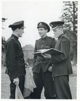 Three Polish Soldiers During a Conversation