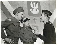 Three Polish Soldiers From Different Services During a Conversations