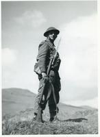 A Polish Infantryman on a Hill