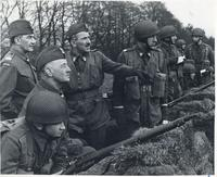 General Sikorski visiting the parachute brigade in Scotland