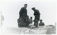 Commander of the SBSK along with soldiers at the observation post under Gazala