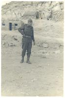 An unidentified Polish soldier near Gazala