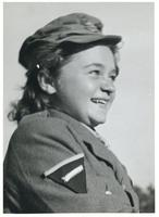 A portrait of an unidentified member of the Polish Women's Auxiliary Service