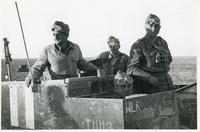 A Universal Carrier vehicle in the desert with four Polish soldiers