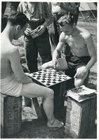 Polish Soldiers Play Checkers (Scotland)