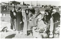 A Group of Polish Women in Winter Clothes After Arriving from the Soviet Union