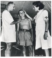 Polish Boy Examined in Camp in Palestine