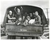 Polish Children in a Truck After Arriving in New Zealand