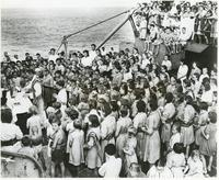 Holy Mass For Polish Orphan Children on Board a Warship on the Way to New Zealand