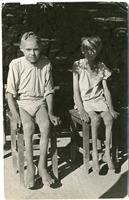 Two Children After Arriving from the Soviet Union