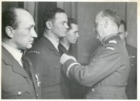 General Sikorski Decorates Pilots with the Virtuti Militari Cross