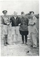 English, Russian, and Polish officer in Iran