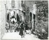 Group of Polish Children on the Streets of Jerusalem