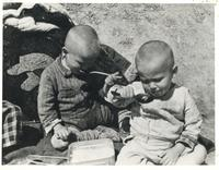 Polish Toddlers in Tehran During a Meal