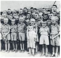 A Group of Children in an Orphanage After Arriving from the Soviet Union