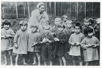 A Group of Polish Orphans Cared by a Nun